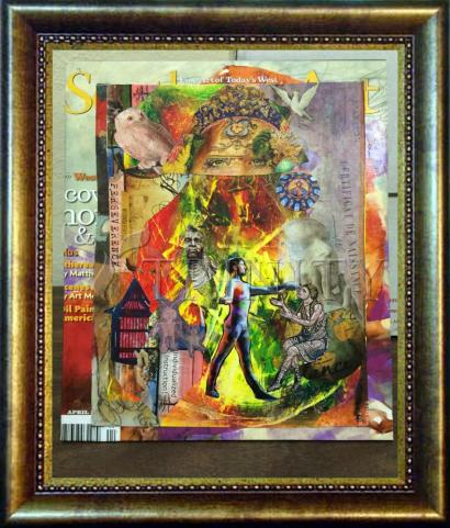 Desk Frame Bronze - Healing the Lame by B. Gilroy