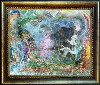 Desk Frame Bronze - Morning Mist Lifting by B. Gilroy
