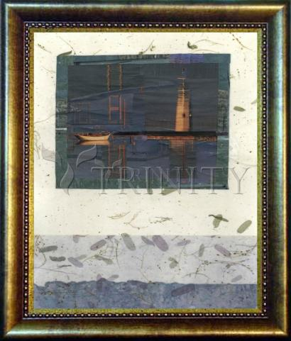 Desk Frame Bronze - Water Reflections by B. Gilroy