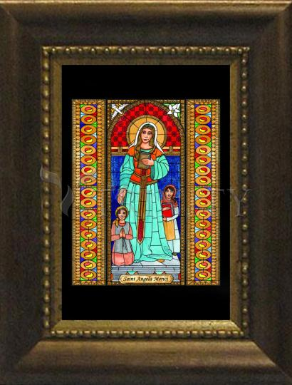 Desk Frame Bronze - St. Angela Merici by B. Nippert