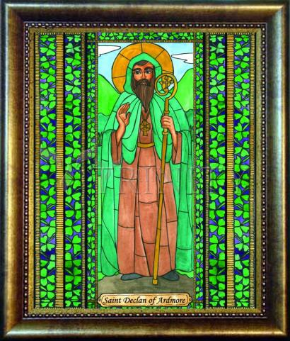 Desk Frame Bronze - St. Declan of Ardmore by B. Nippert