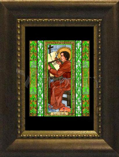 Desk Frame Bronze - St. Columba by B. Nippert