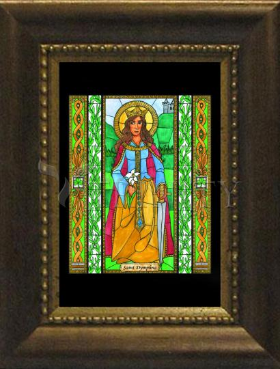 Desk Frame Bronze - St. Dymphna by B. Nippert