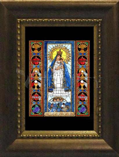 Desk Frame Bronze - Our Lady of Caridad del Cobre by B. Nippert