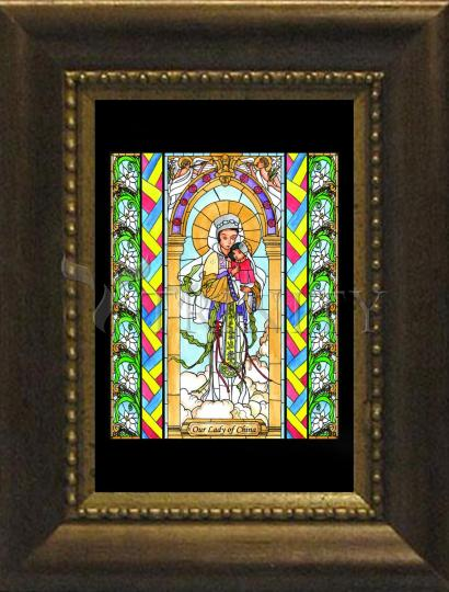 Desk Frame Bronze - Our Lady of China by B. Nippert