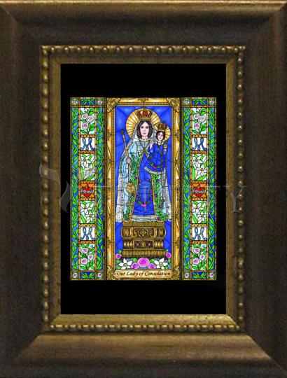 Desk Frame Bronze - Our Lady of Consolation by B. Nippert