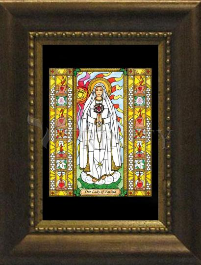 Desk Frame Bronze - Our Lady of Fatima by B. Nippert
