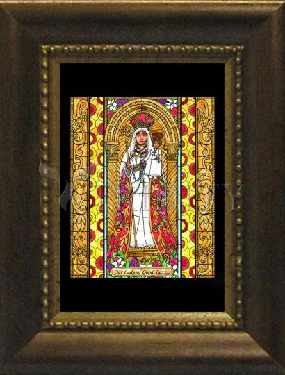 Desk Frame Bronze - Our Lady of Good Success by B. Nippert