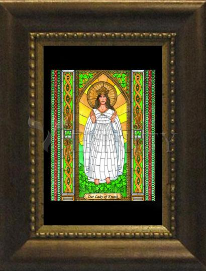 Desk Frame Bronze - Our Lady of Knock by B. Nippert