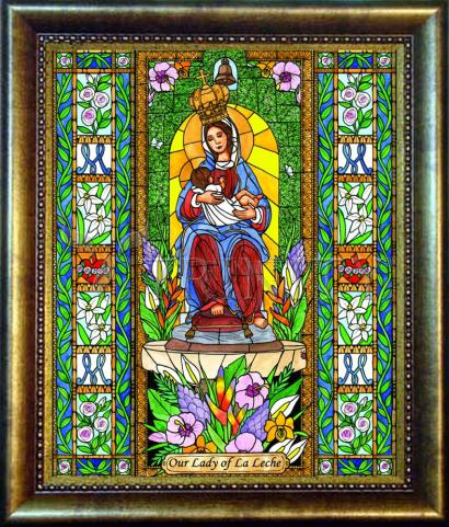 Desk Frame Bronze - Our Lady of the Milk by B. Nippert