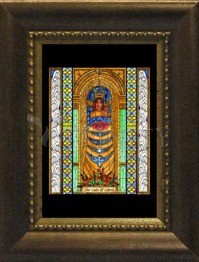 Desk Frame Bronze - Our Lady of Loreto by B. Nippert