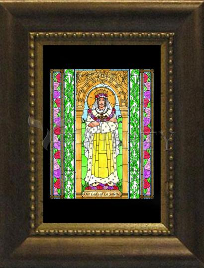 Desk Frame Bronze - Our Lady of La Salette by B. Nippert