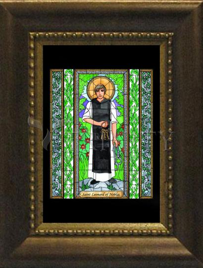 Desk Frame Bronze - St. Leonard of Noblac by B. Nippert