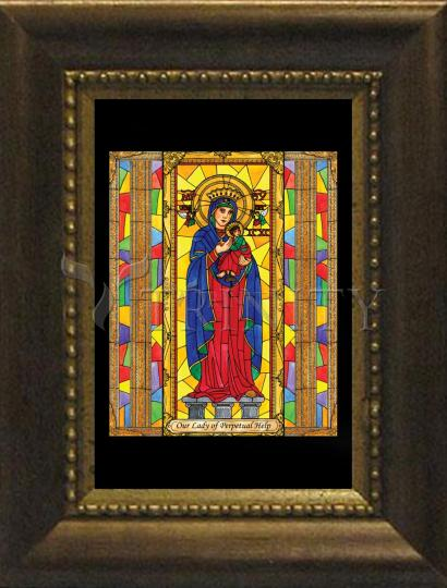 Desk Frame Bronze - Our Lady of Perpetual Help by B. Nippert