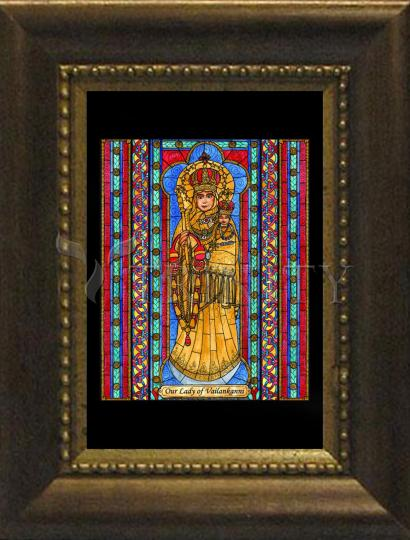 Desk Frame Bronze - Our Lady of Vailankanni by B. Nippert