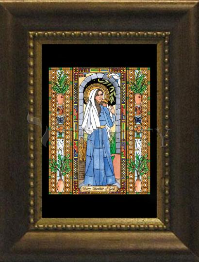 Desk Frame Bronze - Mary, Mother of God by B. Nippert
