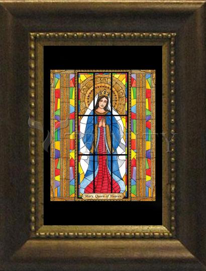 Desk Frame Bronze - Mary, Queen of Heaven by B. Nippert