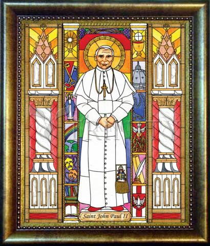 Desk Frame Bronze - St. John Paul II by B. Nippert