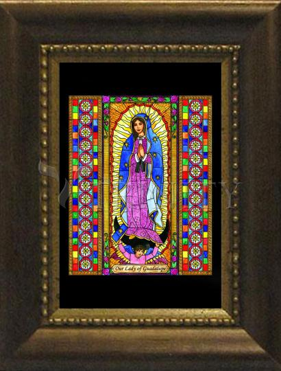 Desk Frame Bronze - Our Lady of Guadalupe by B. Nippert
