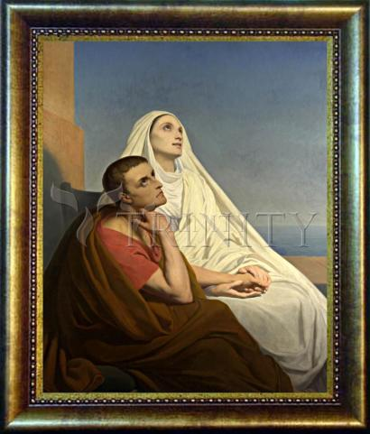 Desk Frame Bronze - Sts. Augustine and Monica by Museum Art