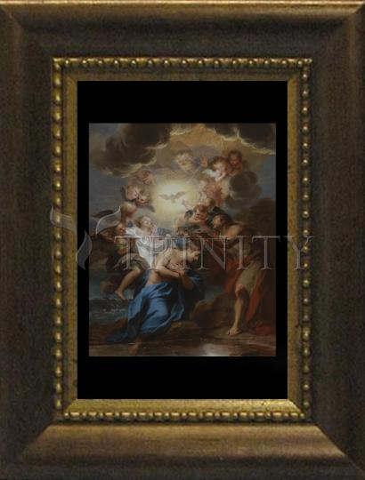 Desk Frame Bronze - Baptism of Christ by Museum Art
