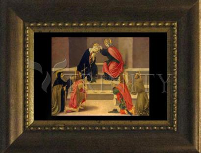 Desk Frame Bronze - Coronation of Mary by Museum Art