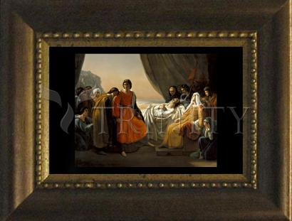 Desk Frame Bronze - Death of St. Louis, King of France by Museum Art