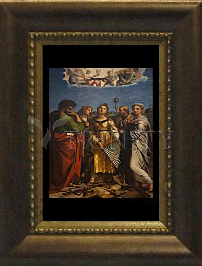Desk Frame Bronze - Ecstasy of St. Cecilia by Museum Art