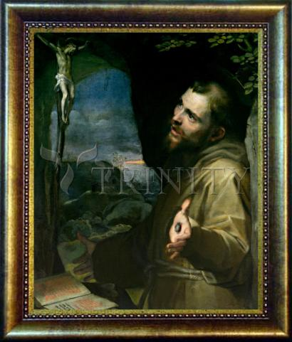 Desk Frame Bronze - St. Francis of Assisi by Museum Art