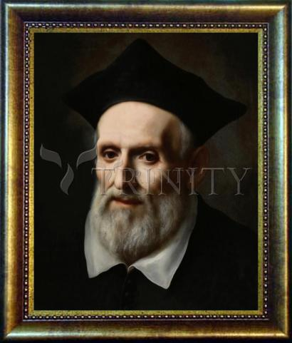 Desk Frame Bronze - St. Philip Neri by Museum Art