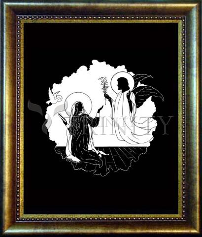 Desk Frame Bronze - Annunciation by D. Paulos