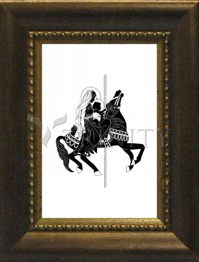 Desk Frame Bronze - Carousel Madonna by D. Paulos