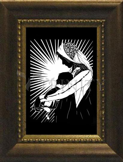 Desk Frame Bronze - Our Lady of the Light - ver.1 by D. Paulos