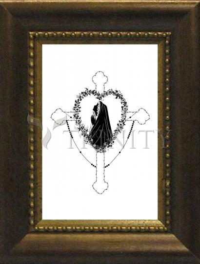 Desk Frame Bronze - Our Lady of the Rosary by D. Paulos