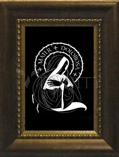 Desk Frame Bronze - Mater Dolorosa - Mother of Sorrows by D. Paulos