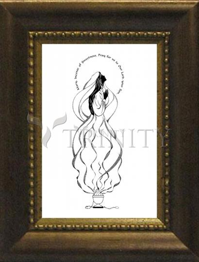 Desk Frame Bronze - Mary, Incense of Sweetness by D. Paulos
