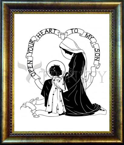 Desk Frame Bronze - Open Your Heart To My Son - ver.1 by D. Paulos