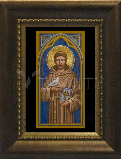 Desk Frame Bronze - St. Francis of Assisi by J. Cole