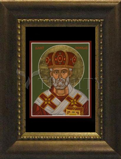 Desk Frame Bronze - St. Nicholas by J. Cole