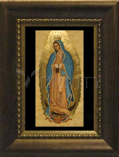 Desk Frame Bronze - Our Lady of Guadalupe by J. Cole
