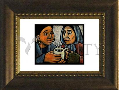 Desk Frame Bronze - Blessed Are the Poor by J. Lonneman