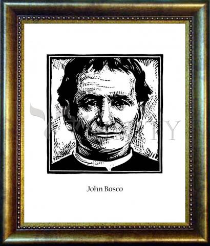 Desk Frame Bronze - St. John Bosco by J. Lonneman