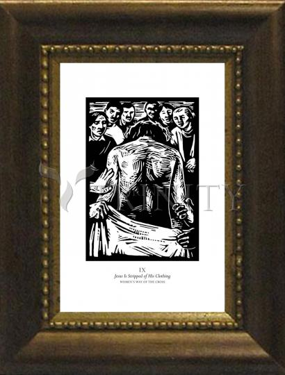 Desk Frame Bronze - Women's Stations of the Cross 09 - Jesus is Stripped of His Clothing by J. Lonneman