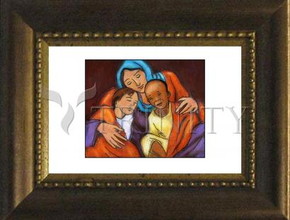 Desk Frame Bronze - Mother of Mercy by J. Lonneman