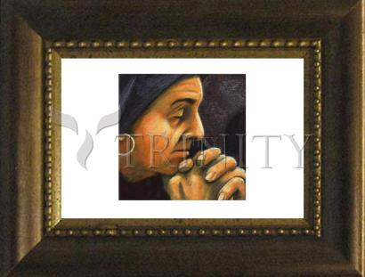 Desk Frame Bronze - St. Monica by J. Lonneman