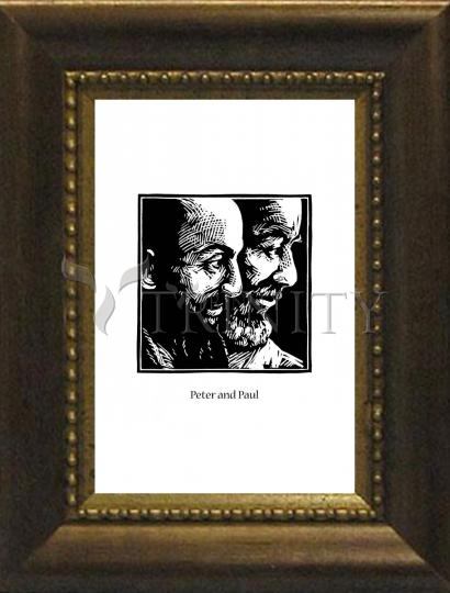 Desk Frame Bronze - Sts. Peter and Paul by J. Lonneman