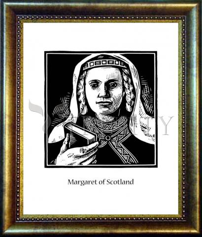 Desk Frame Bronze - St. Margaret of Scotland by J. Lonneman