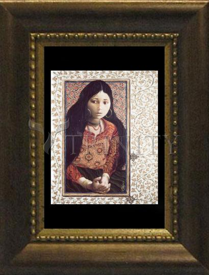Desk Frame Bronze - The Daughter of Jairus by L. Glanzman