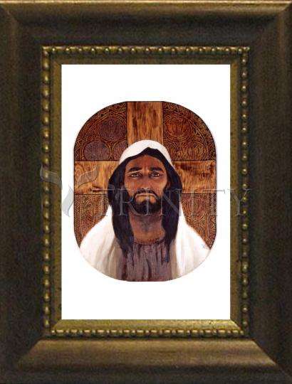 Desk Frame Bronze - Jesus by L. Glanzman