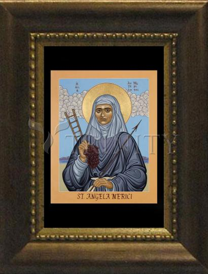 Desk Frame Bronze - St. Angela Merici by L. Williams
